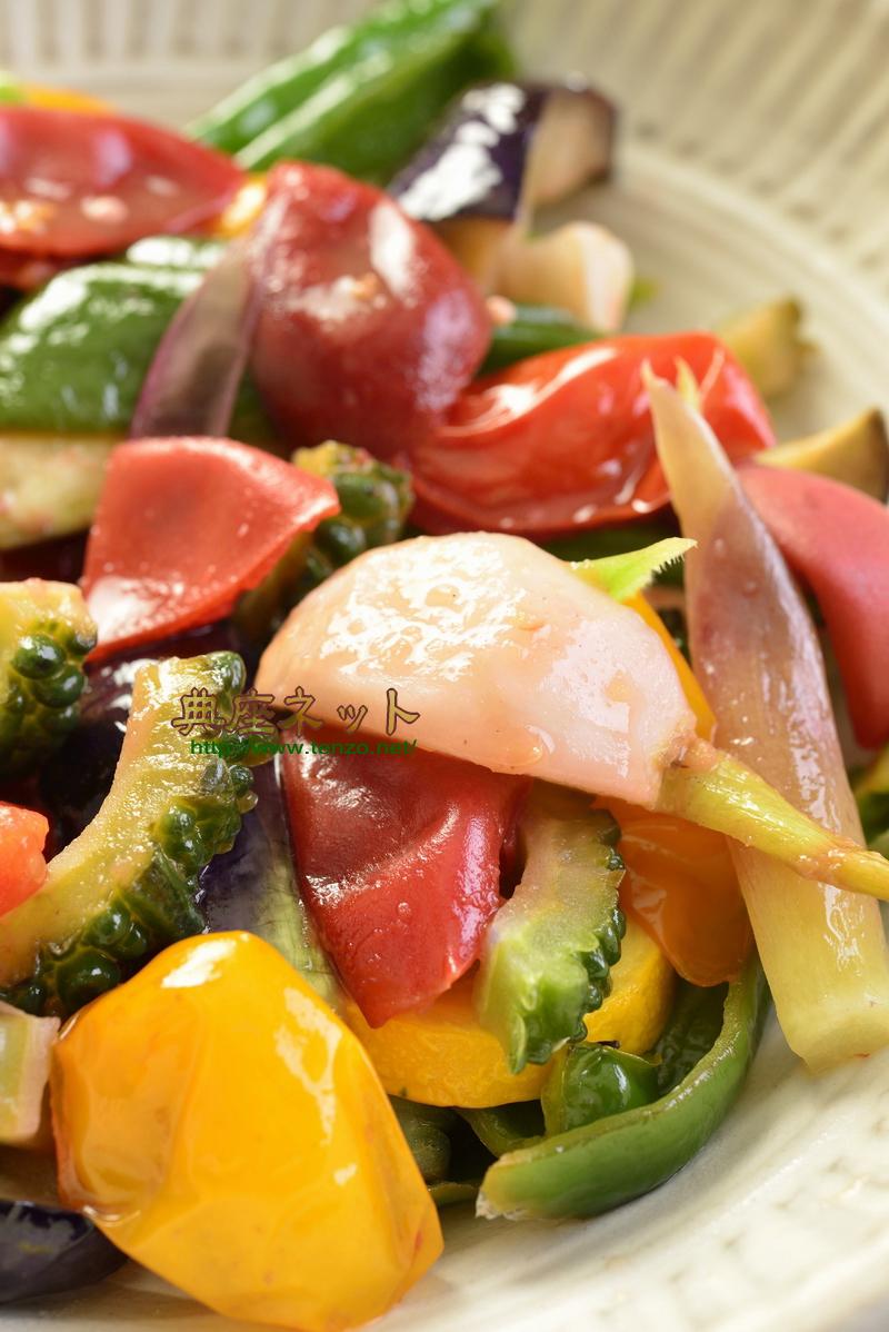 夏野菜の梅炒め