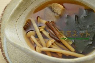 雪割茸の精進スープ