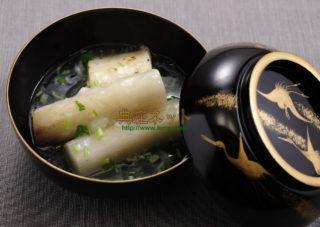 うどと長芋のくず白煮椀
