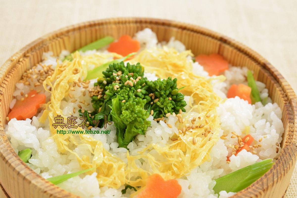 菜の花ちらしすし_精進料理レシピ