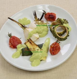 焼き夏野菜のアボガドディップ