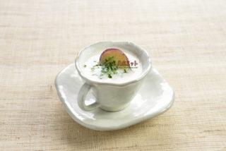 サツマイモのなめらか精進スープ