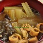 生キクラゲとふきの味噌汁