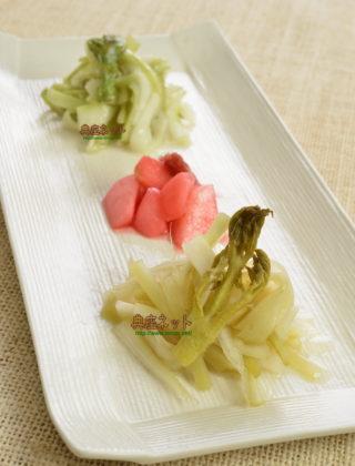 うどの甘酢漬・塩麹漬・梅酢漬 3種盛